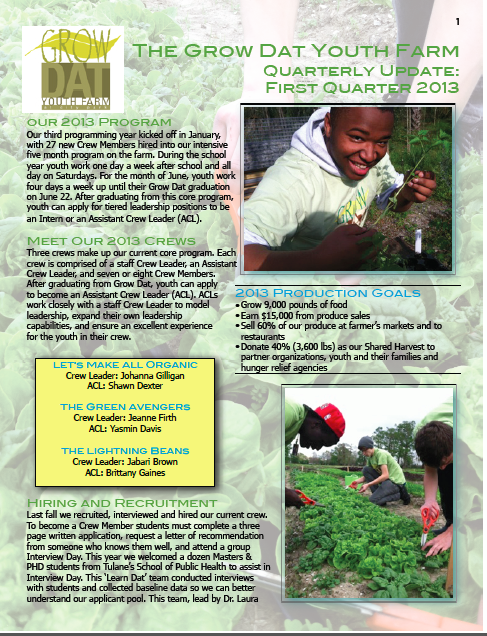 Download PDF for the inside scoop about our 2013 program