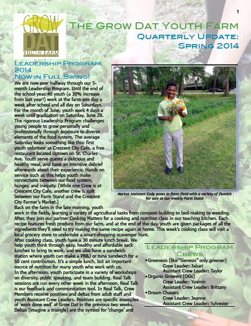 Spring Quarterly report